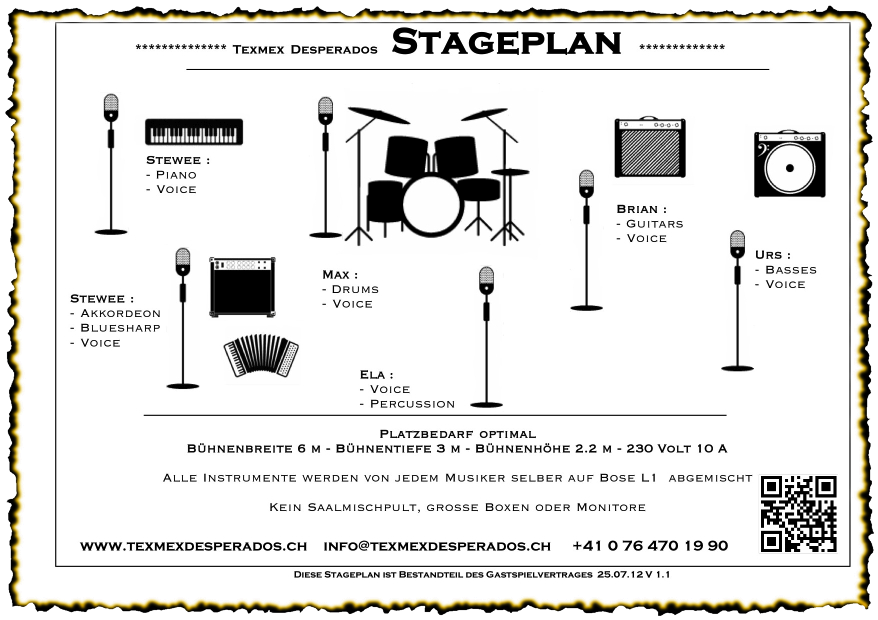 Countrymusik Stageplan